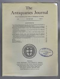 The Antiquaries Journal, Being the Journal of The Society of Antiquaries of London, Volume XLIX, 1969, Part I