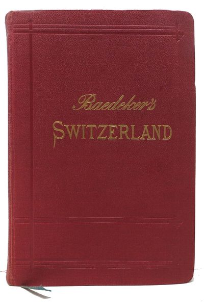 Leipzig: Karl Baedeker, Publisher, 1909. 23rd Edition. Red cloth wrapped flexible boards, gilt lette...