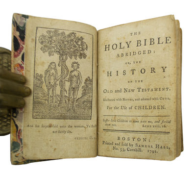 Very Rare Early American Edition of a Childrenís Pocket Bible . The Holy Bible Abridged: Or, the Hi...