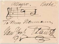 Autograph Musical Quotation Signed