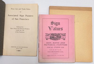 San Francisco: the Union, 1918. Twelve-page staplebound booklet with plain grey covers, listing rule...