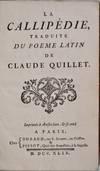 View Image 2 of 2 for LA CALLIPEDIE. Traduite de Poeme Latin. Inventory #019540