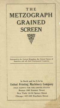 The Metzograph Grained Screen.; [cover title]