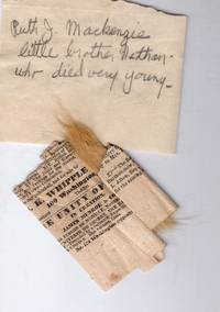 Victorian Sister's Keepsake: Small lock of child's flaxen hair, deceased at age 2