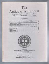 The Antiquaries Journal, Being the Journal of The Society of Antiquaries of London, Volume LXIII, 1983, Part II