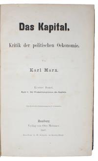 Das Kapital. Kritik der politischen Oekonomie. Erster Band. Buch I: Der Produktionsprocess des Kapitals.