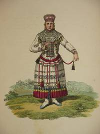 The Costume of the Russian Empire 1811. Original Hand Coloured Engraving by John Dadley (after Johann Gottlieb Georgi). Plate XII & XIV: A Mordvin Woman, of the Mokchanien Tribe [Moksha]