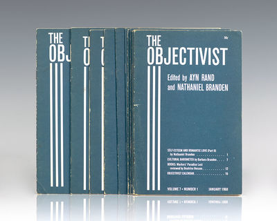 New York: The Objectivist, Inc, January - December 1968. First edition complete set of The Objectivi...