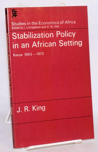 Nairobi: Heinemann, 1979. Paperback. xi, 115p., has a few graphs and some math, first edition plain ...