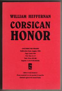 Corsican Honor [COLLECTIBLE UNCORRECTED PROOFS COPY]
