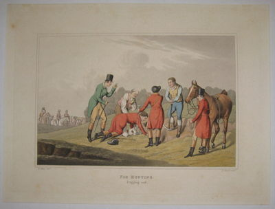 London. unbound. very good. View. Engraving with original hand coloring. Page measures 12