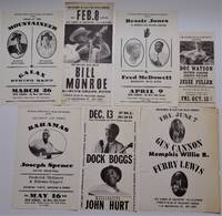 """image of """"The Friends of Old Time Music Present...""""RARE Collection of Seven Original Broadsides, 1961-1965"""