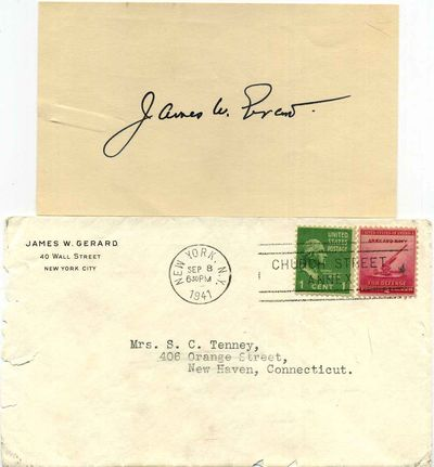 New York, NY: not published, 1941. Autograph. Very good condition. Unbound. Signed by Author(s). Fir...