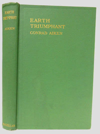 New York: Macmillan, 1914. Gilt green cloth. First edition of the author's first book. Faint spot of...