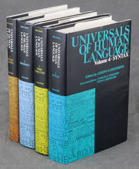 Universals of Human Language, complete in 4 volumes: 1. Method and Theory / 2. Phonology / 3....
