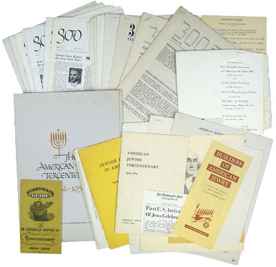New York: American Jewish Tercentenary Committee, 1955. First edition. Most items very good to fine....