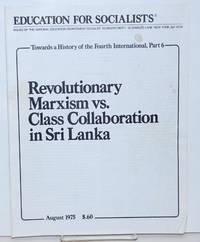 image of Revolutionary Marxism vs. class collaboration in Sri Lanka