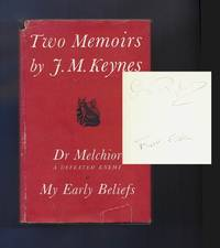 image of TWO MEMOIRS. Dr. Melchior: A Defeated Enemy And My Early Beliefs. George (Dadie) Ryland's Copy