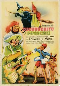 Aventuras de Cucuruchito y Pinocho (Original Spanish brochure from the 1943 film)