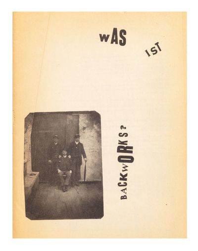Black & white illus. throughout. pp. (incl. inside of wrappers). 4to (274 x 214 mm.), orig. printed ...