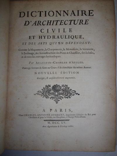 DICTIONNAIRE D'ARCHITECTURE CIVILE ET...