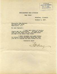 Typed letter signed by Thomas Henry Barry (1855-1919).