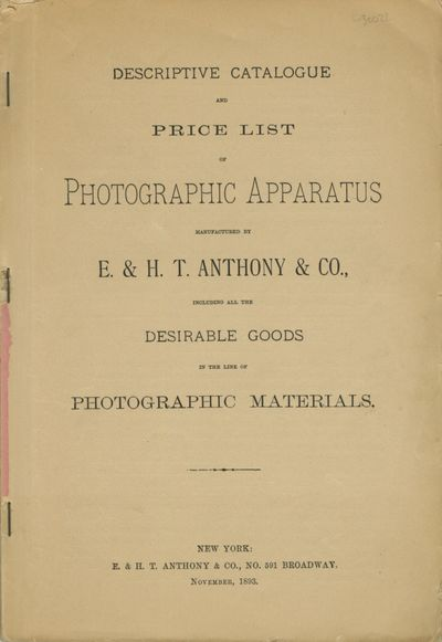 New York: E. & H.T. Anthony & Co, 1893. 4to., 188 pp., , illustrated from engravings; errata slip la...