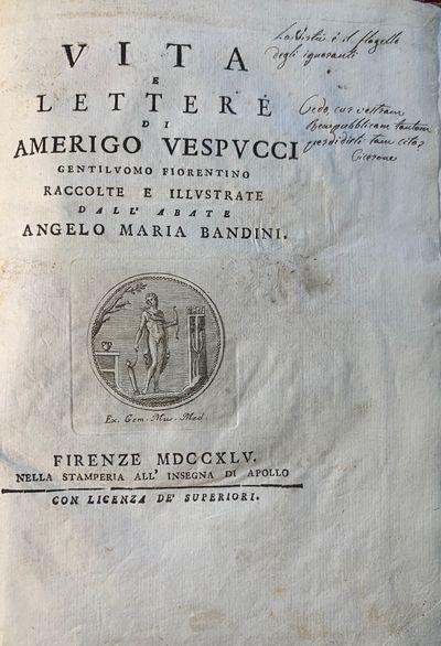 Vita e Lettere di Amerigo Vespucci...