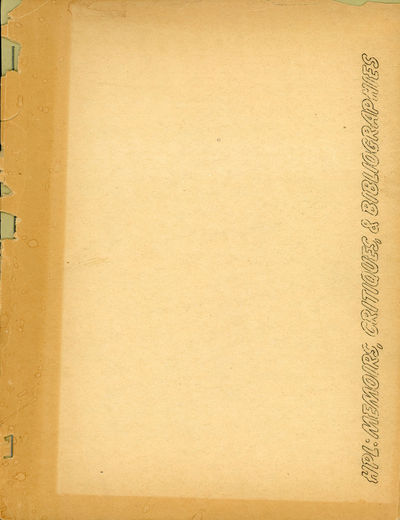 : SSR , 1955. Large octavo, pp. iii 5-83 , fly leaves at front and rear, mimeographed from typewritt...