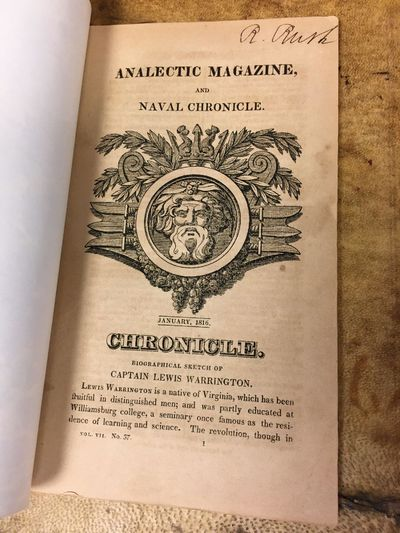 1816. First Edition. Octavo, 104 pages; VG; bound in modern marbled paper wraps; mild aging to pages...