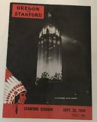 Oregon Vs Stanford Sept. 25, 1948 Football Program