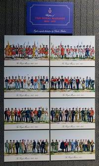 image of UNIFORMS OF THE ROYAL MARINES, 1664-1973.  EIGHT COMPOSITE ILLUSTRATIONS BY CHARLES STADDEN.