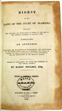Cahawba: Published by Ginn & Curtis , 1823. Modern buckram. xxxiv, -1066 pp. Rubberstamp on title pa...