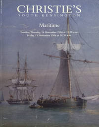 Maritime Auction Catalogue for Thurs & Friday, November 14-15, 1996