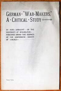 """image of German """"War-Makers, """" a Critical Study"""