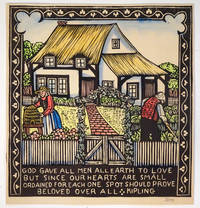 """( Hand-Colored Woodblock Print ) """" God Gave All Men All Earth to Love..."""""""