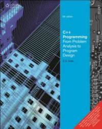 image of C++ Programming From Problem Analysis to Program Design