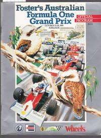 image of Fosters 1986 Australian Formula One Grand Prix Official Program  October 23-26 1986