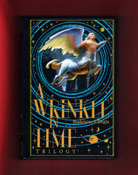 image of A Wrinkle in Time (Trilogy): A Wrinkle in Time, A Wind in the Door, A Swiftly Tilting Planet. 2015 Decorative Bonded Leather Bound B&N Edition