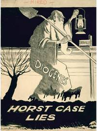 "Original ink caricature drawing ""Horst Case Lies"" regarding the disappearance of Melvin Horst"