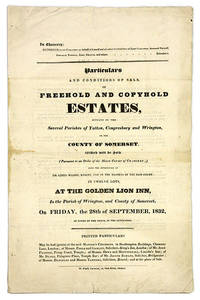 Particulars and Conditions of Sale, Of Freehold & Copyhold Estates.. by Land Auction; Great Britain; Poole and Gamlan  - 1850  - from The Lawbook Exchange Ltd (SKU: 68825)
