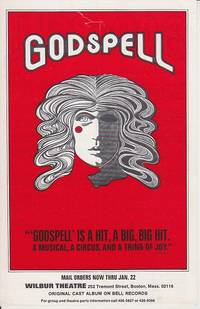 image of Godspell Advertising Sheet From the Wilbur Theatre