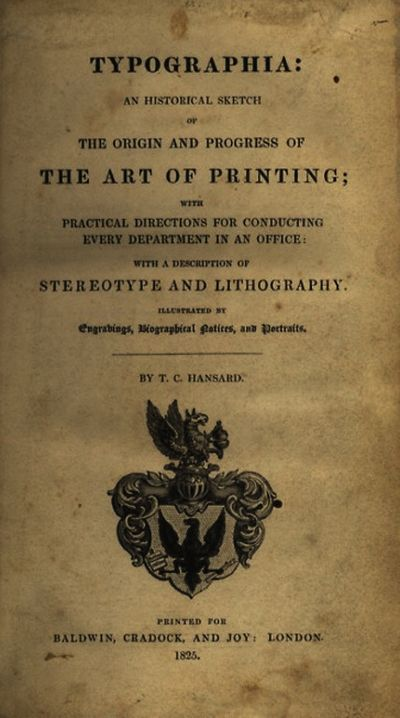 London: Printed for Baldwin, Cradock, and Joy, 1825. First ed. Thick small 4to., xvi, , 939 pp., fro...