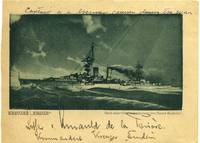 Postcard of the German cruser Emden signed and inscribed by Commander Lothar von Arnauld de la Periere (1886-1941).