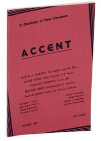 Accent: A Quarterly of New Literature Volume XVII, Number 1 Winter, 1957