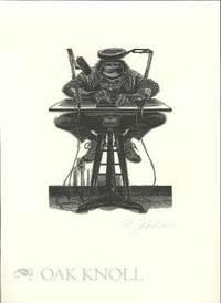 Peterborough, NH: Robert Hauser, n.d.. broadside, 10 3/4 by 14 3/4 inches. Self portrait print by Ra...