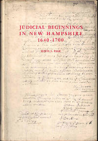 Judicial Beginnings in New Hampshire 1640-1700