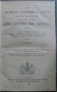 The Public General Acts Passed in the Fifth Year of the Reign of His Majesty King Edward the Seventh by various - Hardcover - 1905 - from Hanselled Books (SKU: 058475)