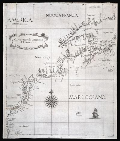 Carta Seconda Generale del'America.