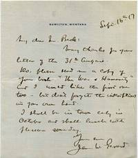 Letter Handwritten and signed by James W. Gerard (1867-1951).